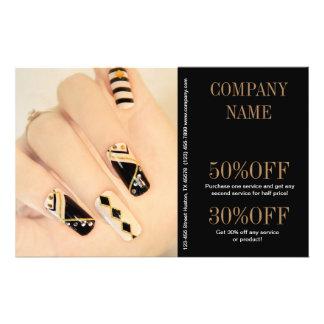 girly fashion beauty nail artist nail salon flyer design