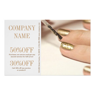 girly fashion beauty nail artist nail salon flyer