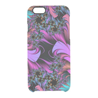 Girly Feathers Fractals iPhone 6 Case