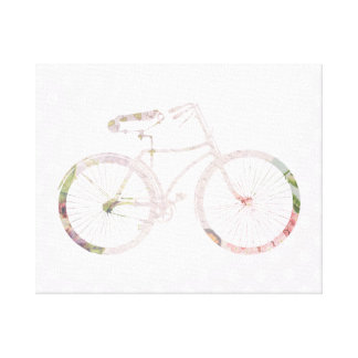 Girly Floral Bicycle Canvas Print