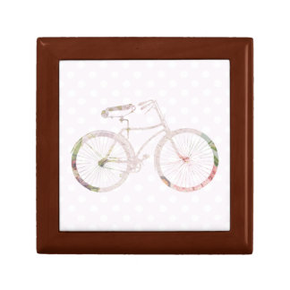 Girly Floral Bicycle Gift Box