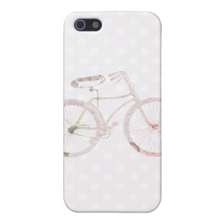 Girly Floral Bicycle iPhone 5/5S Case