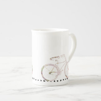 Girly Floral Bicycle Tea Cup