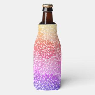 Girly Floral Design Custom Bottle Cooler