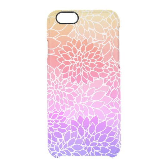 Girly Floral Design Custom Clear iPhone 6/6s Case
