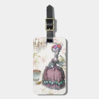 Girly floral Marie Antoinette Paris tea party Bag Tags