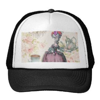 Girly floral Marie Antoinette Paris tea party Cap