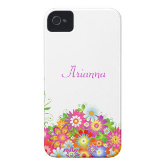 Girly Floral Personalized iPhone 4 Case