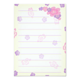 Girly Flower Doodles stationery (thick) Card