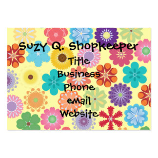 Girly Flower Power Colorful Floral Pattern Gifts Pack Of Chubby Business Cards