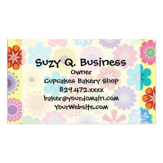 Girly Flower Power Colorful Floral Pattern Gifts Pack Of Standard Business Cards