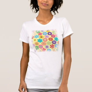Girly Flower Power Colorful Floral Pattern Gifts Tee Shirt