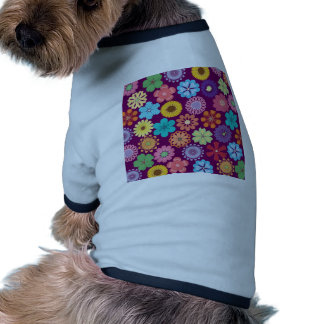 Girly Flower Power Colorful Floral Purple Pattern Dog Clothing