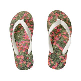 Girly Flowers Kid's Flip Flops