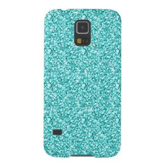 Girly, Fun Aqua Blue Glitter Printed Galaxy Nexus Cover