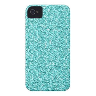 Girly, Fun Aqua Blue Glitter Printed Case-Mate iPhone 4 Case