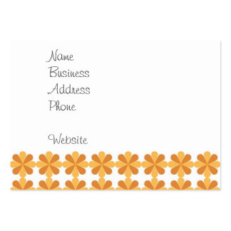 Girly Fun Orange Cris Cross Floral Flowers Pattern Pack Of Chubby Business Cards
