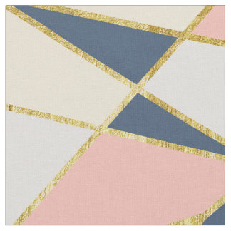 Girly Geometric Triangles with Faux Gold Fabric