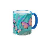 Girly Gift! Butterfly Mug, Add NAME!
