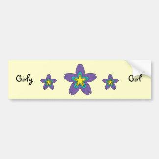 Girly Girl bumper sticker Car Bumper Sticker
