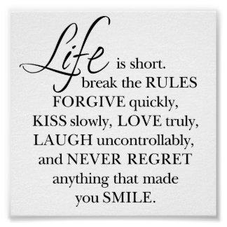 """Girly-Girl-Graphics Life Quote Poster 6"""" x 6"""""""