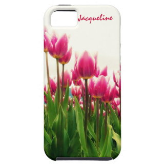 Girly Girl - Pretty Pink Tulips - Personalized! iPhone 5 Covers