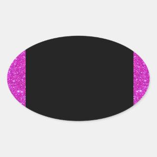 Girly Glam Black with Sparkly Pink Glitter Frame Sticker