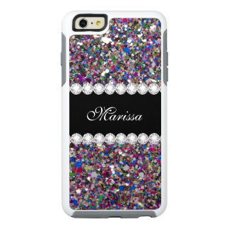 Girly Glitter Pink Purple Blue White Sparkles OtterBox iPhone 6/6s Plus Case