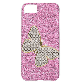 Girly Glitter with Butterfly iPhone 5C Case