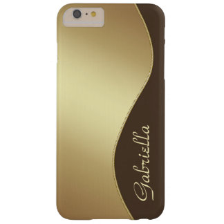 Girly Gold and Brown Monogram iPhone 6 Plus case