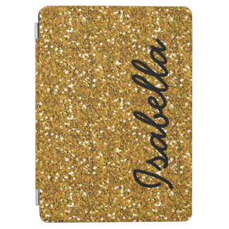GIRLY GOLD GLITTER PRINTED PERSONALIZED iPad AIR COVER