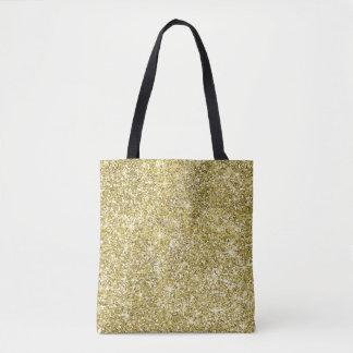 Girly Gold Glitter Sparkles Tote Bag