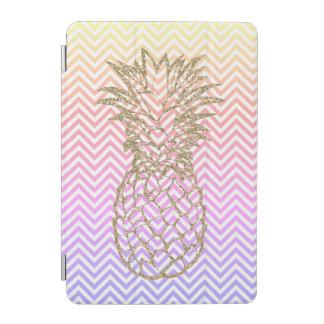 Girly Gold Pineapple Pink Chevron iPad Smart Cover