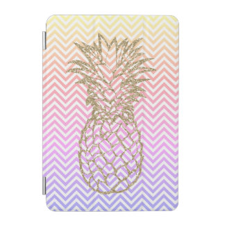 Girly Gold Pineapple Pink Chevron iPad Smart Cover iPad Mini Cover