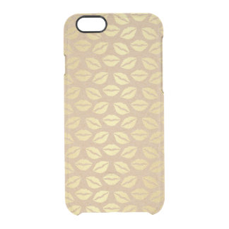 Girly Golden Hugs Kisses iPhone Clearly™ Clear iPhone 6/6S Case