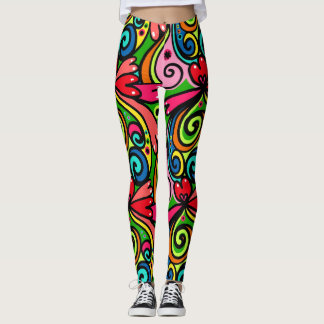 Girly Graffiti Leggings