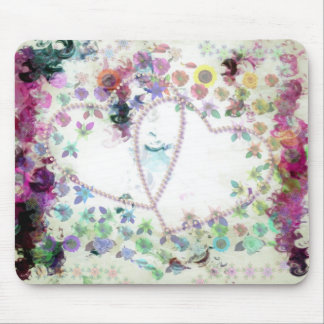 Girly Grunge Mouse Pad
