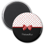 Girly Hearts and Polka Dots With Name