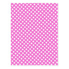 Girly Hot Pink Criss Cross Pattern Postcard