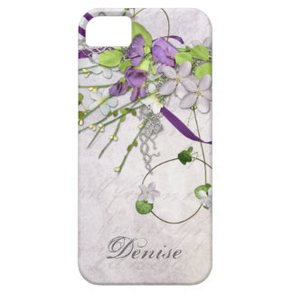 Girly iPhone5 Lavender Purple Sweet Peas Barely There iPhone 5 Case