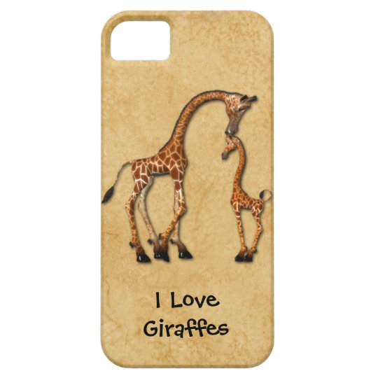 Girly iPhone5 Mother Baby Giraffes iPhone 5 Case