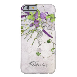 Girly iPhone 6 case Lavender Purple Sweet Peas