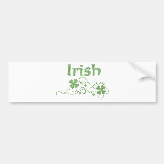 girly irish bumper sticker