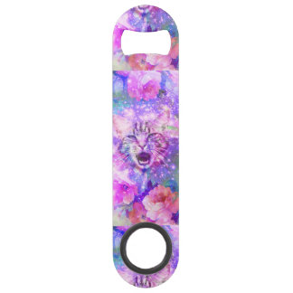 Girly Kitten Cat Romantic Floral Pink Nebula Space