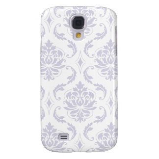 Girly, Lavendar Vintage Damask Pattern Galaxy S4 Case