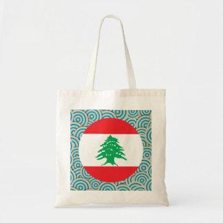 Girly Lebanese Flag Gift Budget Tote Bag