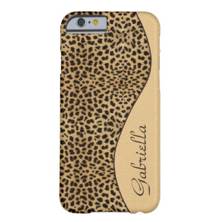 Girly Leopard Monogram iPhone 6 case Barely There iPhone 6 Case