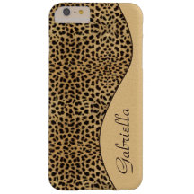 Girly Leopard Monogram iPhone 6 Plus case Barely There iPhone 6 Plus Case