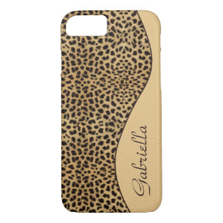 Girly Leopard Monogram iPhone 7 case