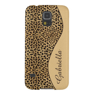 Girly Leopard Print Monogram GalaxyS5 Case Galaxy S5 Cover